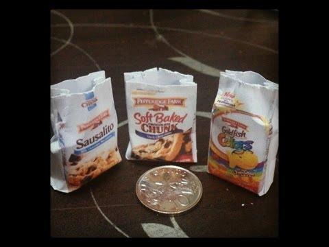 Miniatures Packaging #2 -- Miniature Pepperidge Farm Paper Bag Tutorial