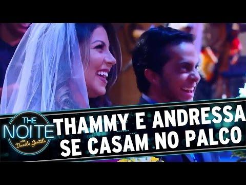 The Noite (07/04/16) - Thammy Miranda e Andressa se casam nos moldes de Las Vegas