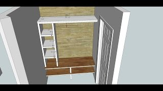 Boot Bench Plans With Sketchup