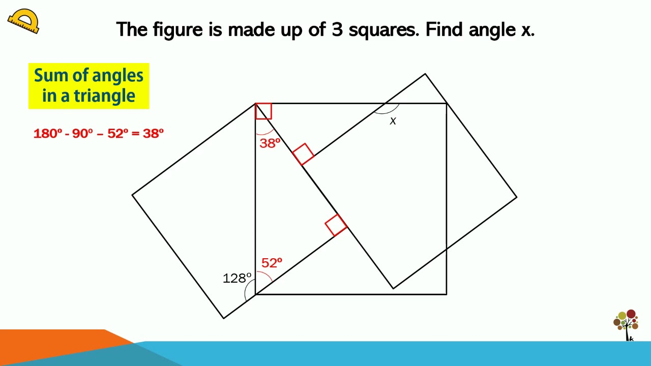 2019 PSLE Maths Angle Question (Only 1 Angle Given)
