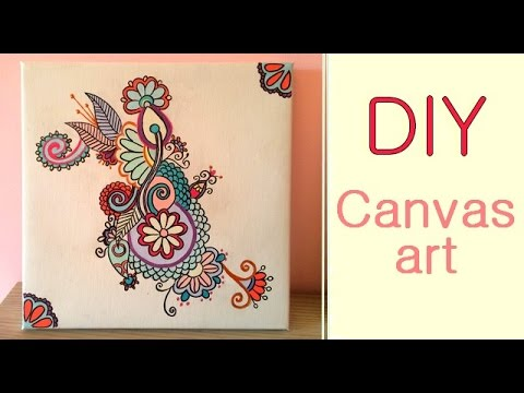 DIY | Canvas art {Inspired by Colorfy}