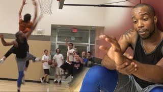 BLOCKING A ALMOST 7 FOOT DUNKER! CAUSE INJURY! 5v5 2k17 Teamup Vs Fans! MOST LIT GYM EVER