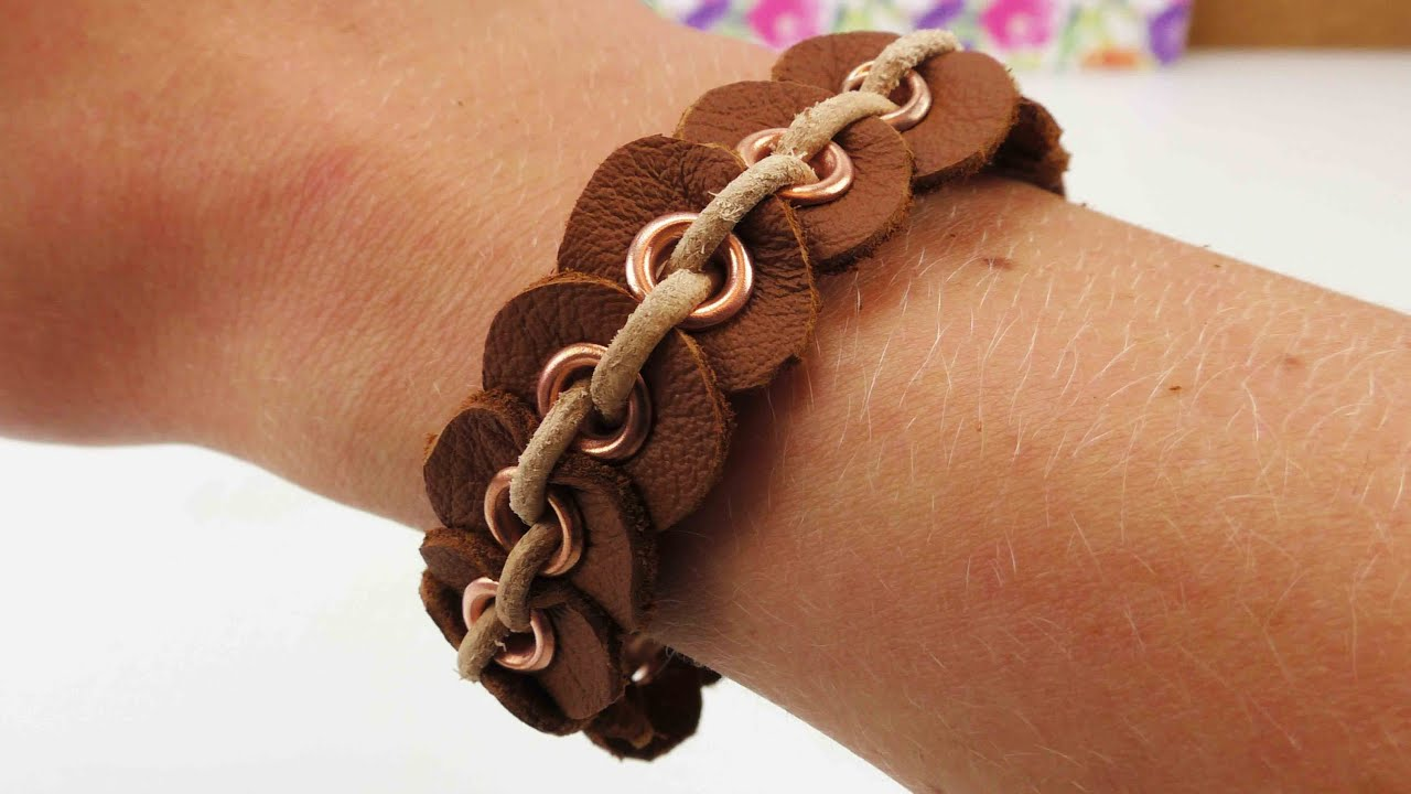 Lederarmband selber machen  Individuelles Armband selber machen | Freundschaftsarmband aus ...