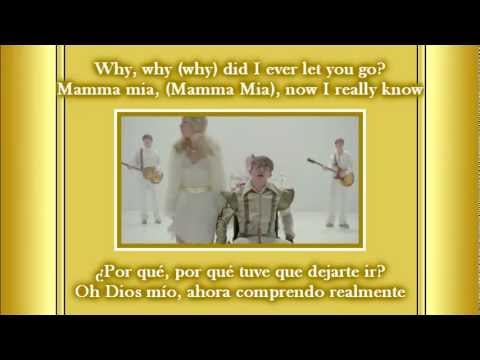 Glee - Mamma mia! / Sub spanish with lyrics