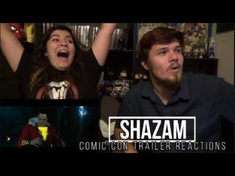Shazam Comic Con Trailer Reactions