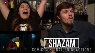 Shazam Comic Con Trailer Reactions