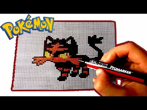 Pixel Art Pokemon Flamiaou Litten Youtube