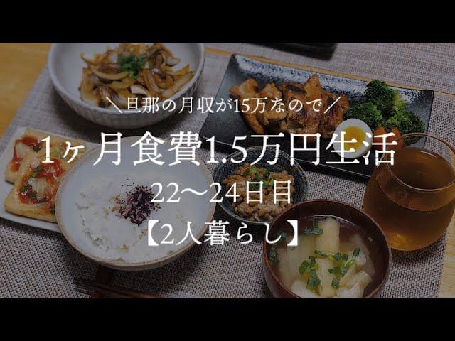 二人暮らし 月収15万円が1ヵ月食費1 5万円生活その8 料理下手が挑戦する Youtube
