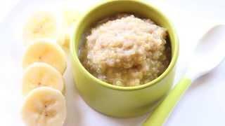 Homemade Baby Food - Banana Quinoa Pudding Recipe