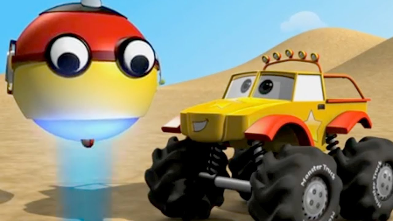 UChi UChi Monster Truck Formation And More   Compilation For Kids