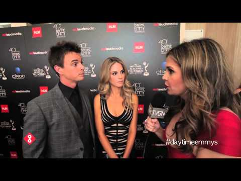Darin Brooks & Kelly Kruger of The Bold and the Beautiful at the 2013 Daytime Emmys