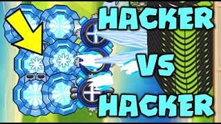 HACKER VS HACKER :: INSANE LATEGAME! ALL ICE ELEMENTAL LATEGAME HACK! - Bloons TD Battles