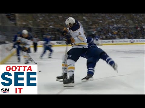 GOTTA SEE IT: Leafs And Sabres Get Chippy, Bogosian And Muzzin Exchange Big Hits