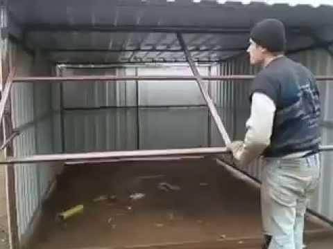 Подъёмные гаражные ворота своими руками - монтаж 25