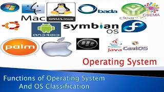 Operating system (OS), Functions and Classifications
