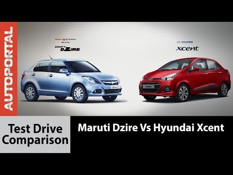 Hyundai Xcent Vs Maruti Suzuki Swift Dzire Comparison Review - Autoportal