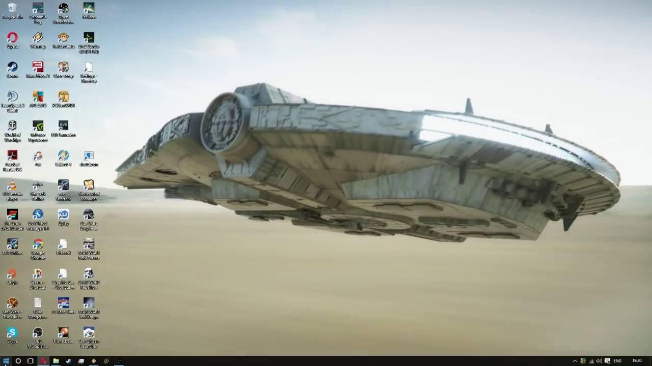 Stardock Animated Wallpaper Desert Run Millennium Falcon Desktop Youtube