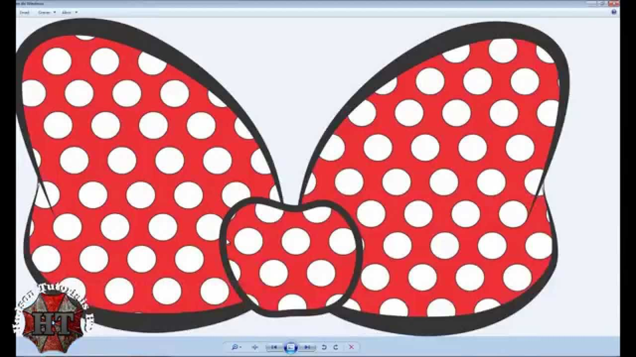Criando Laço Minnie Corel Draw Youtube