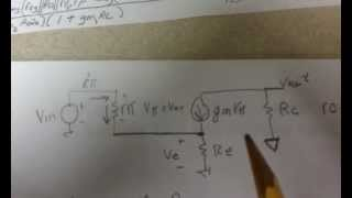 Finding the voltage gain of a CE amplifier with RE not shorted at AC.