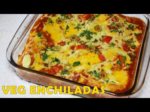 Healthy Homemade Mexican Vegetarian Enchiladas Recipe
