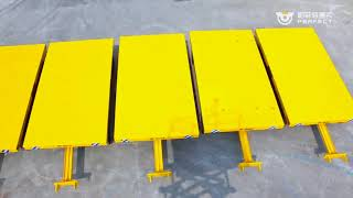 Towing trolley flat car trailer for material handling with tow device