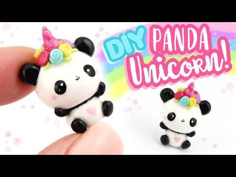 Kawaii PANDICORN DIY clay charm! - Unicorn Panda Polymer Clay tutorial   KAWAII FRIDAY