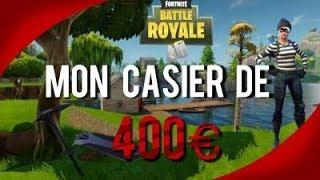 PRÉSENTATION DE MON CASIER A PLUS DE 400€ SUR FORTNITE BATTLE ROYALE !!!