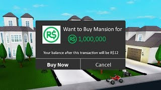 $1,000,000 Mansion in Roblox!! - (Bloxburg)