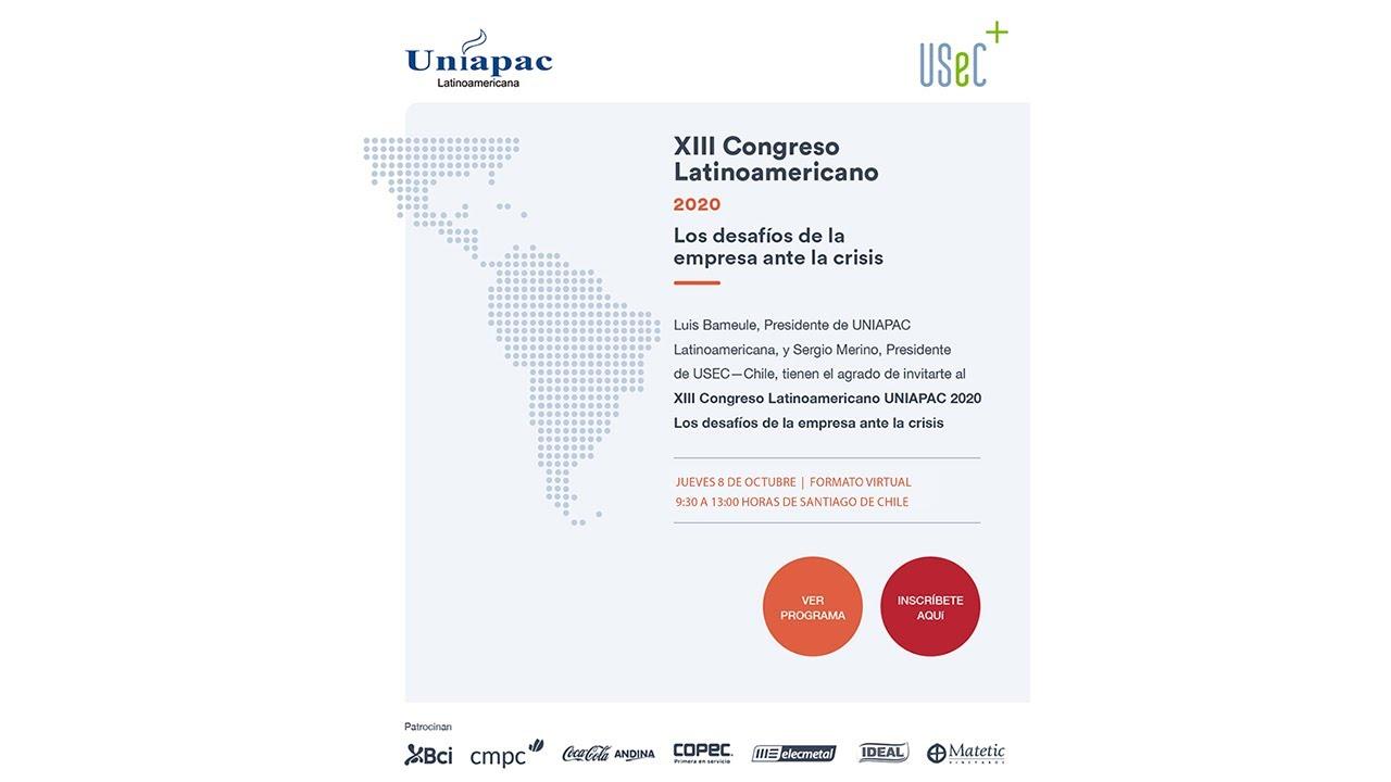 XIII Congreso Latinoamericano UNIAPAC 2020: Los desafíos de la empresa ante la crisis