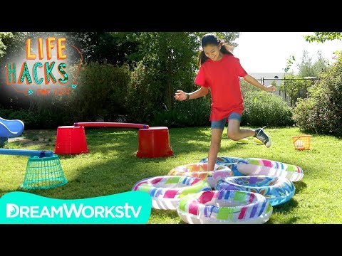 DIY Backyard Obstacle Course   LIFE HACKS FOR KIDS