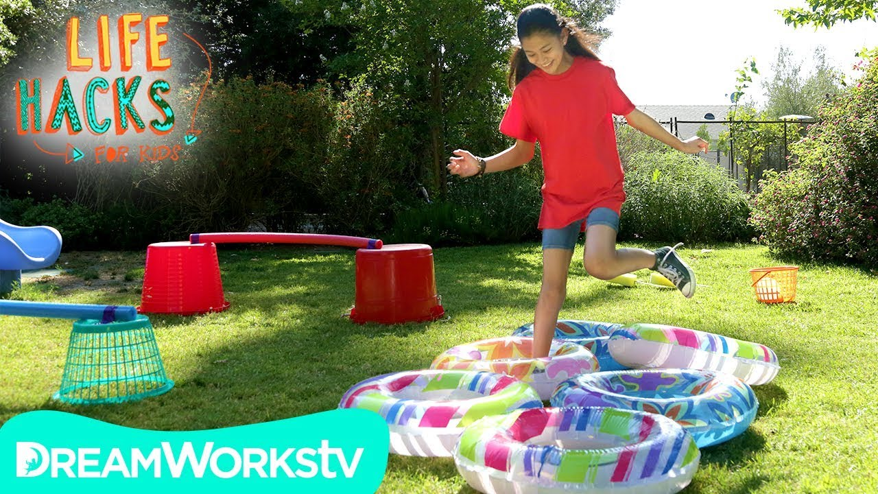 DIY Backyard Obstacle Course | LIFE HACKS FOR KIDS - YouTube