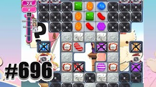 Candy Crush Saga Level 696 | Complete Level No Booster
