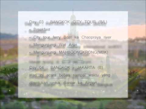 Paket Wisata 4D3N Bangkok Pattaya Tour