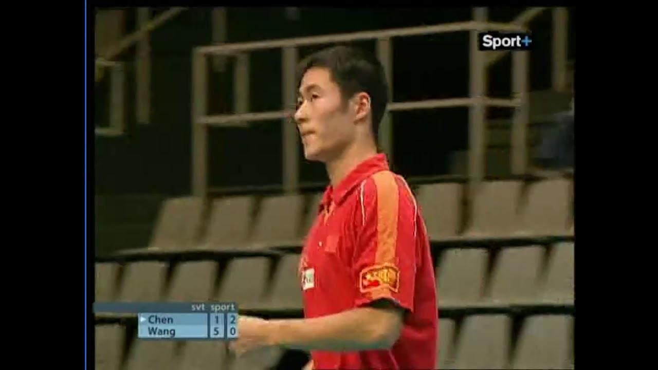 Table tennis Wang  Liqin  - Chen Qi Final