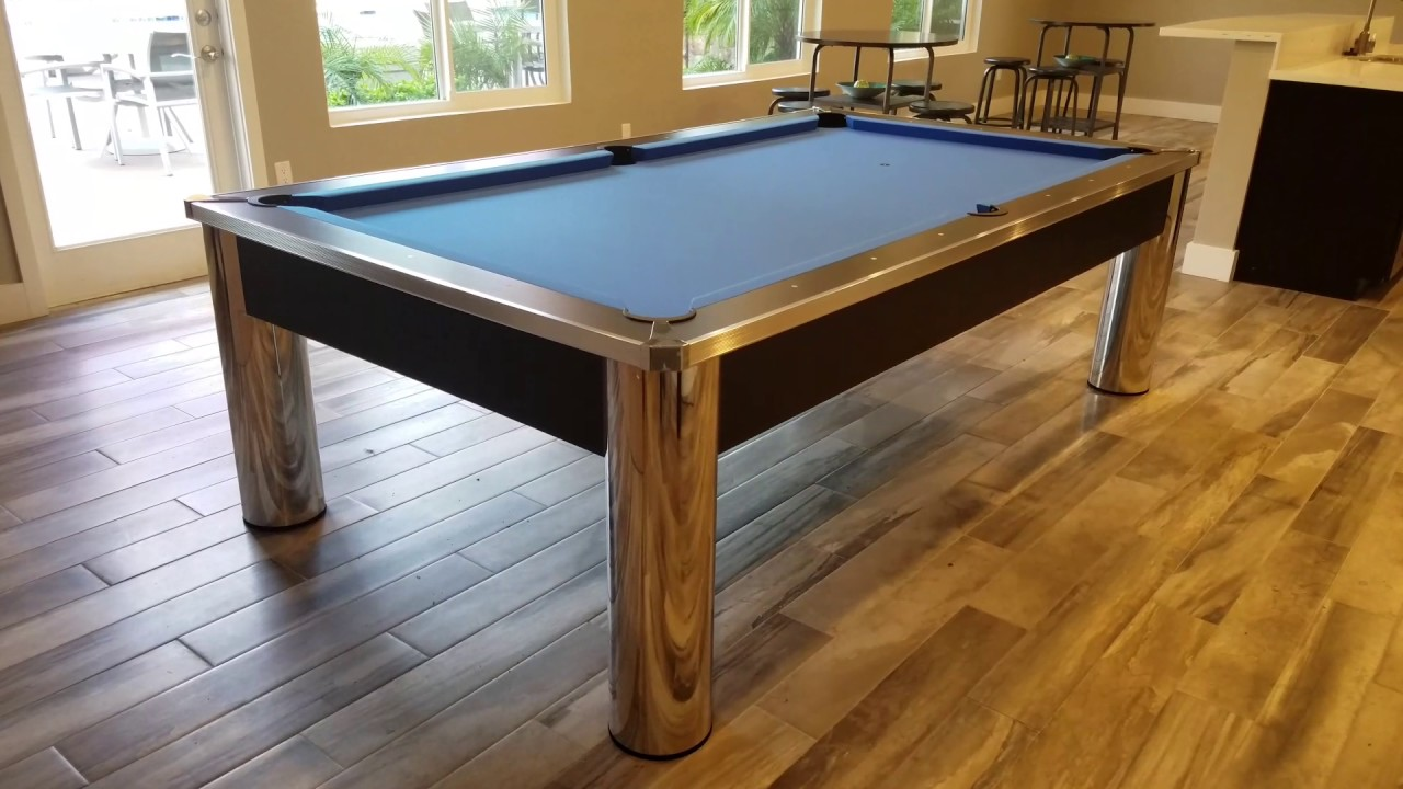 Spectrum Pool Table With Electric Blue Felt YouTube - Spectrum pool table