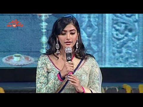 Pooja Hegde Singing on Stage @ Mukunda Audio Launch - Varun Tej