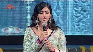 Pooja Hegde Singing on Stage @ Mukunda Audio Launch - Varun Tej