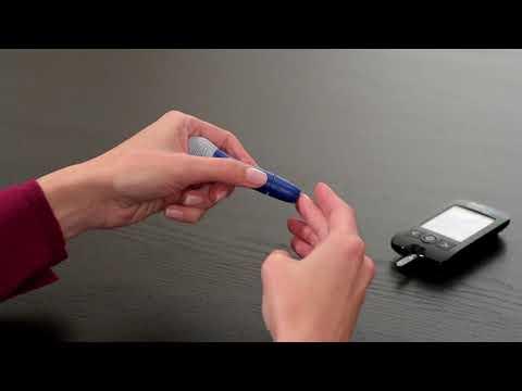 Relion Premier Blu Performing A Blood Glucose Test