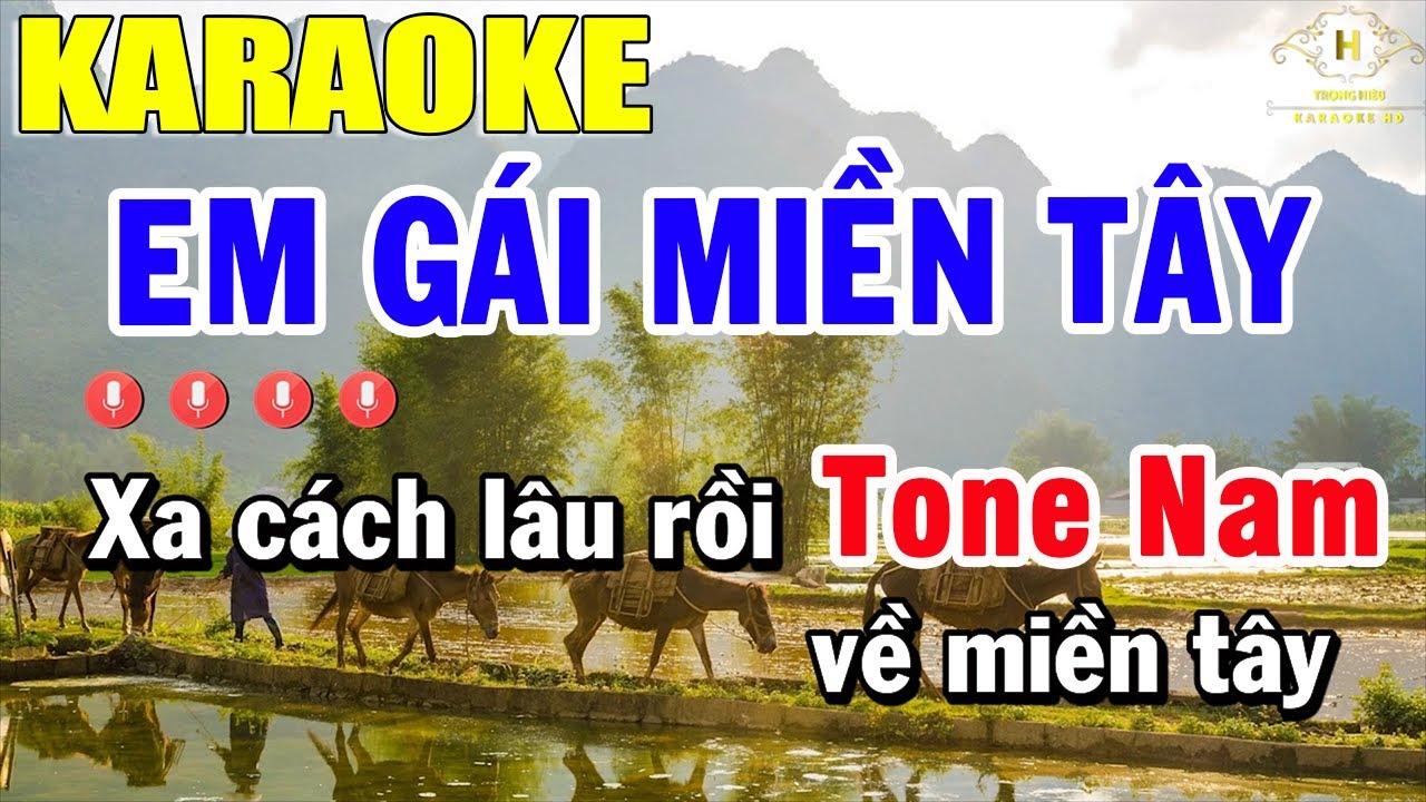 Em Gái Miền Tây Karaoke Tone Nam Nhạc Sống | Trọng Hiếu