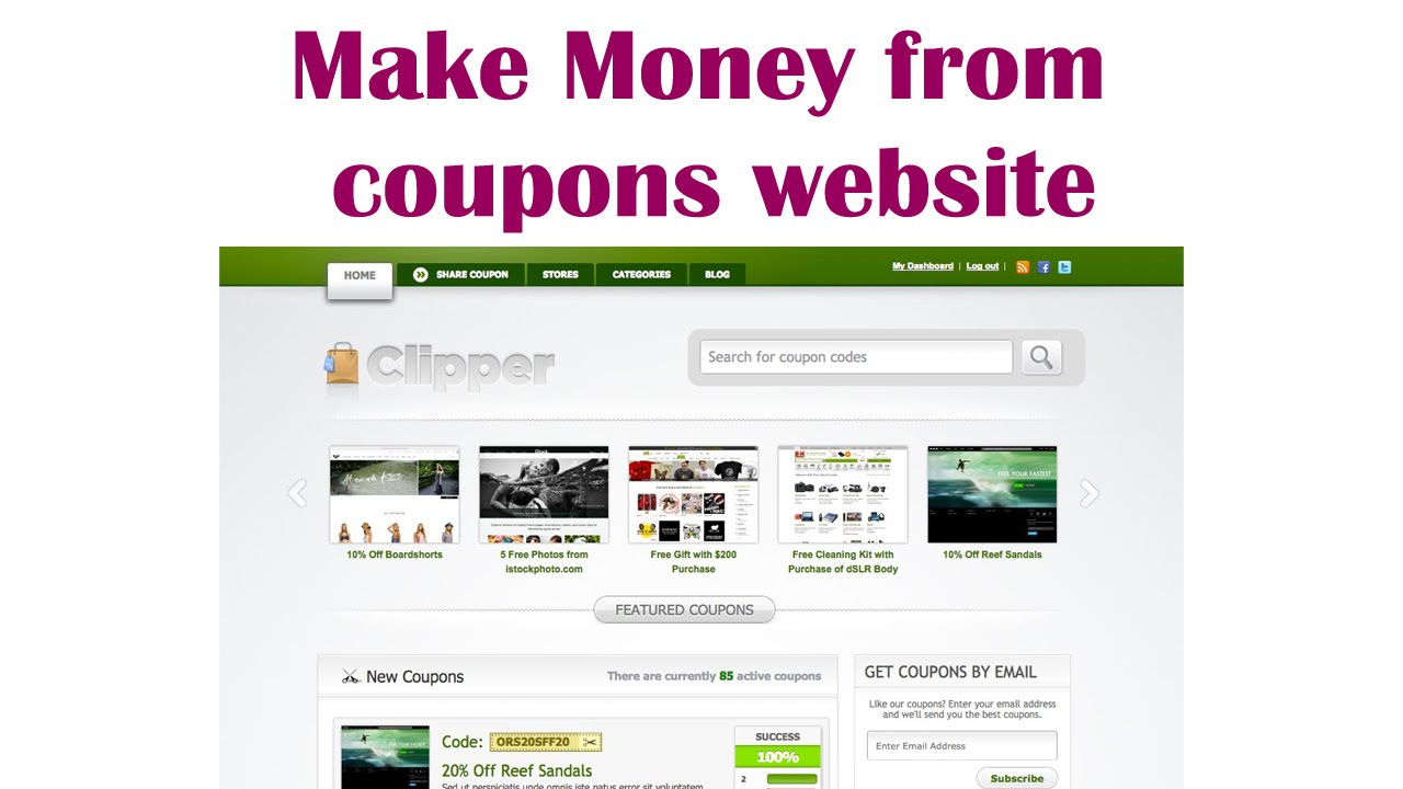 make money from coupon website wordpress clipper coupons theme
