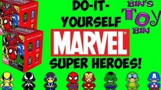 Do It Yourself Marvel Super Heroes Munnyworld Vinyl Figures! Kidrobot Blind Boxes! by Bin