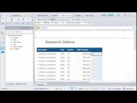 Create a formula to calculate a value: SAP BusinessObjects Web Intelligence 4.0