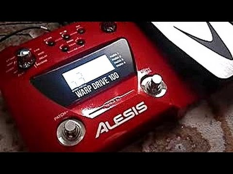 Alesis M100 multi effects pedal demo (same brain as Deltalabs DGFX1)