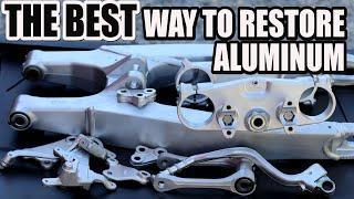 How to clean aluminum dirt bike parts - RMZ 450 build part5