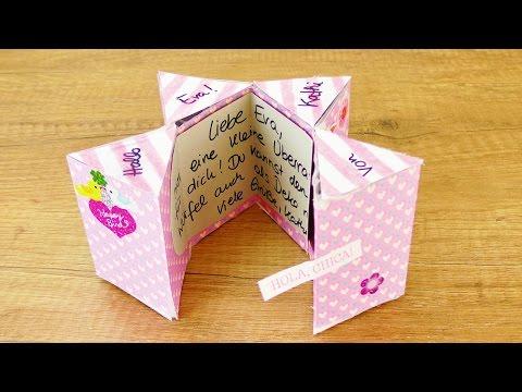 MAGISCHE KARTE Basteln für die beste Freundin | Geburtstagsgeschenk Ideen mit Stickern & Washi Tape