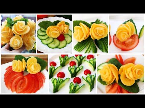 Super Salad Decoration Ideas - Vegetable Flower Plate Decoration