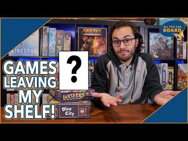 Games Leaving My Shelf | June 2021 | 7 Games I'm Getting Rid Of!