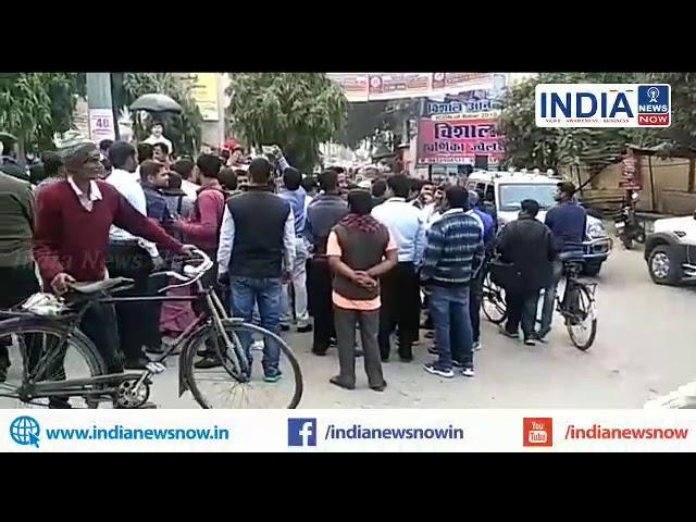 भागलपुर: जम्मूकश्मीर के  पूलवामा में मारे गए शहिदो को  भगतसिंह चौक पर केंडल जला कर  दी गयी श्रदांजलि