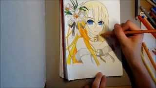 Vocaloid Lily Marie-Luise Aquarell Drawing