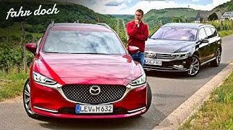 45.000€ vs 65.000€? Mazda 6 Skyactiv D184 vs VW Passat 2.0 TDI KOMBI DUELL | Fahr doch